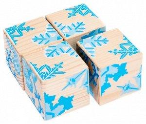 """Кубики """"Снежинки"""" 4 шт. Томик"""