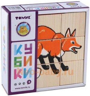 """Кубики """"Животные леса"""" 9 шт. Томик"""