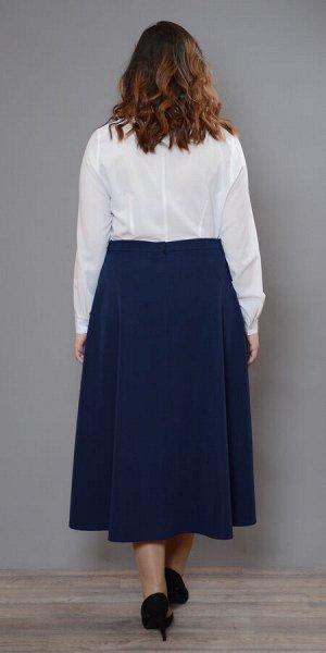 Юбка Ю-091 Стильная юбка из костюмной ткани на притачном поясе. Для плотного прилегания изделия к талии по бокам пояса вставлена резинка. По переду изделия в рельефах оригинальные, удобные карманы. Мо