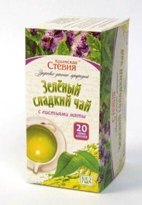 Чай зеленый со стевией и мятой , 30 грамм (20 фильтр пакетов)