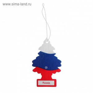 Ароматизатор Ёлочка Little Trees Российский флаг , Russian Flag