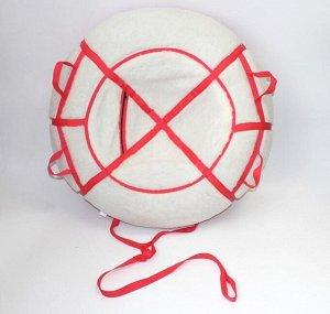Надувные санки тюбинг/ватрушка Меховой Люкс Красный диаметр 110 см. Быстрик