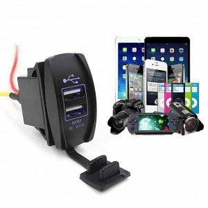 Автомобильное зарядное устройство 2USB 12В и 24В