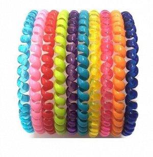 Резинка-пружинка для волос набор №206 10 шт.