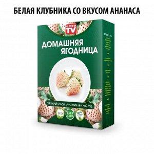 Набор для выращивания Белой клубники со вкусом Ананаса домашняя ягодница, чудо ягодница, сказочный сбор