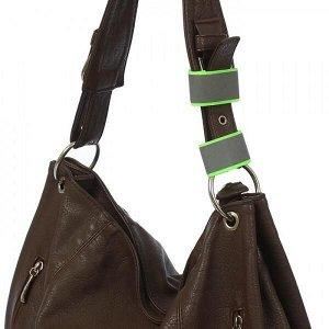 Сигнальный светоотражающий ремешок съемный световой, для сумок, рюкзаков, набор 2шт Пешеход Лимон