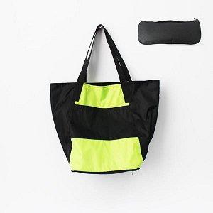 Складная сумка Magic Bag 25 литров Лимонно-черная