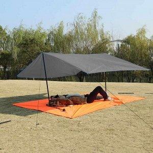 Коврик/Тент/Навес 3в1 для пляжа и пикника Magic Mat 290x200 см. в чехле Темно-Серый