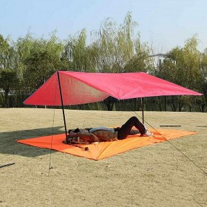 Коврик/Тент/Навес 3в1 для пляжа и пикника Magic Mat 290x200 см. в чехле Красный