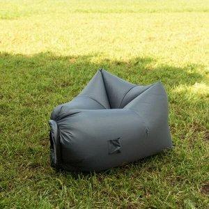 Надувное кресло-лежак Ламзак с карманами LAMZAC Россия темно-серый