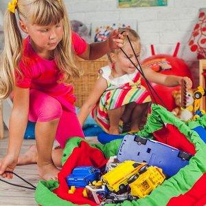 Сумка-коврик для игрушек Toy Bag диаметр 150 см цв. зелено-оранжевый