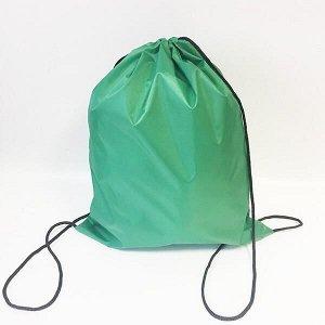 Сумка-рюкзак для сменной обуви зеленый