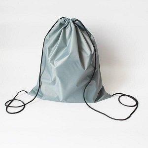 Сумка-рюкзак для сменной обуви светло-серая