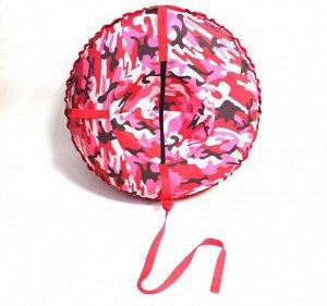 """Надувные санки тюбинг/ватрушка """"Розовый камуфляж"""" диаметр 80 см. Быстрик"""