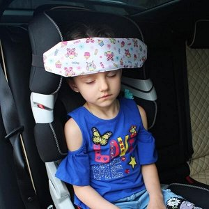 Держатель/Фиксатор для головы ребенка в автокресле Автоняня Совы на белом