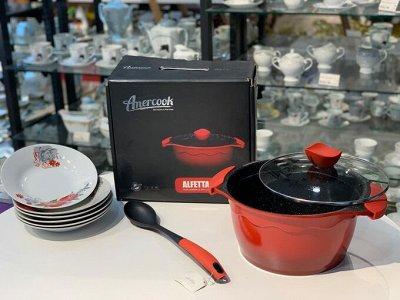 TV-Хиты! 📺 🥞 Все нужное на кухню и в дом!🍩🍕  — Красный всегда в моде!! Серия ALFETTA от Amercook — Посуда