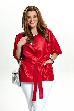 Куртка Куртка TEZA 169 красный  Состав ткани: ПЭ-100%;  Рост: 164 см.  Куртка прямого силуэта со спущенной проймой. Линия талии по спинке подчеркнута кулисой с резинкой. По переду накладные карманы.