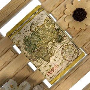 Обложка для паспорта Geographic из натуральной кожи в современном дизайне.