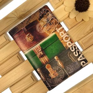 Обложка для паспорта Isseur из натуральной кожи в современном дизайне.