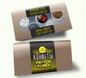 Натуральные конфеты из сухофруктов ПРОТЕИНОВЫЕ в обсыпке, 150г (5 шт)
