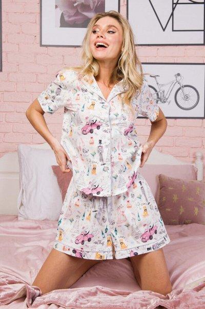 SVYATNYH -Элегантная классика, мужские костюмы,брюки,ОРГ 15% — Женщинам - блузка с шортам — Одежда для дома
