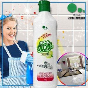 """""""Mitsuei"""" Крем для очищения поверхностей без царапин с ароматом лимона 400г"""