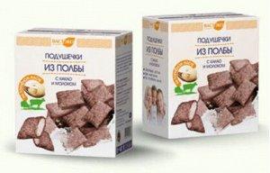 Подушечки из полбы с какао и молоком, 200г.