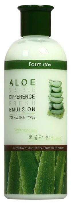 Farmstay Visible Difference Fresh Emulsion Aloe Увлажняющая эмульсия для лица с экстрактом алоэ 350 мл