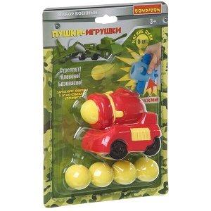 Игровой набор «Военный» Bondibon, машина с 5 мягкими пулями, CRD 24?16x6 см, арт. 557-4.