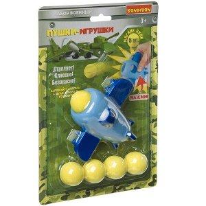 Игровой набор «Военный» Bondibon, самолёт с 5 мягкими пулями, CRD 24?16x6 см, арт. 557-6