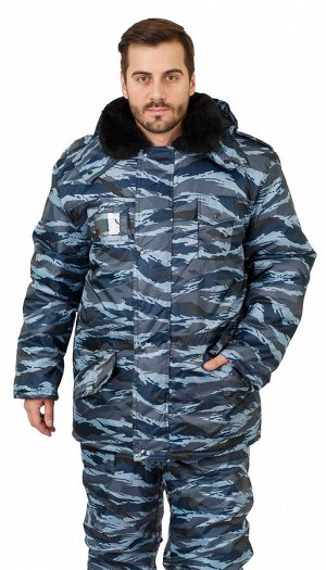 "Костюм мужской ""Безопасник"" зимний куртка, п/к серый вихрь тк. Оксфорд"