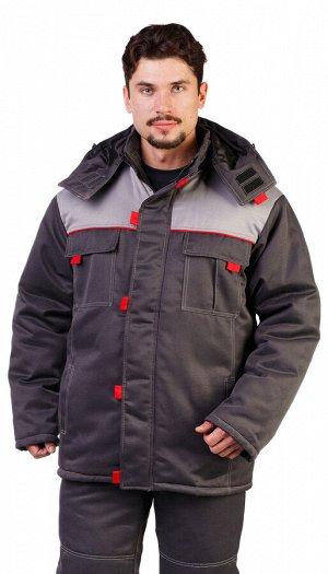 """Костюм мужской рабочий """"Фаворит"""" зимний куртка, брюки  т.серый со светло- серым"""
