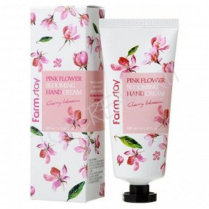 Farm Stay Pink Flower Blooming Hand Cream Cherry Blossom Крем для рук Цветущая вишня 100 гр