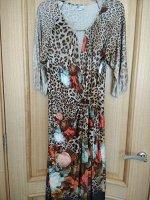 Платье вискоза леопард