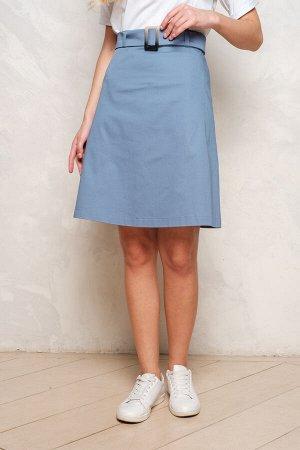 Юбка (НСК) Юбка (НСК)  Состав: 95% Хлопок 5% Эластан Длина: 56 см. Материал: Сатиновое полотно. Описание модели: Стильная юбка из сатинового полотна. Модель А-силуэта на притачном поясе со шлёвками.