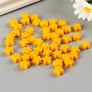 """Бусины для творчества """"Звезды"""", 10 мм, 30 грамм, желтые, оранжевые, зеленые,"""