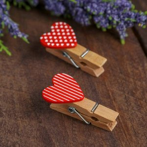 Прищепки декоративные «Сердечки» набор 10 шт.