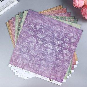 """Набор бумаги для скрапбукинга """"Алхимия"""" 190 г/кв.м  30.5 * 30.5 см  7 шт"""
