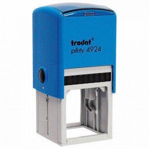 Оснастка для печати (D=40 мм) и штампа (40х40 мм), синий, TRODAT 4924, крышка, подушка в комплекте, 52902