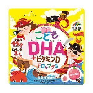 Unimat Riken DHA + Витамин D. Рыбий жир + витамин Д. Желейные конфеты со вкусом персика. На 30 дней.