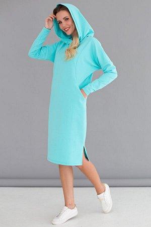 "Платье ""СтритСтайл"" (мята, футер) П1534-18"
