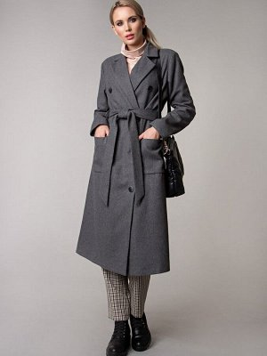 Пальто цвет темно-серый  (Пт-3-1)