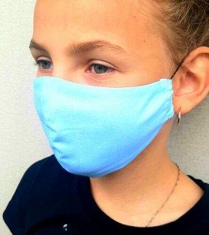 Маска Двухслойные тканевые маски, состав: 100% хлопок. Размер 19*10 см- детская, Размер: 22 х 12 см-взрослая Плотность прилегания маски на свое лицо можно отрегулировать самому резиночками, сделать ме