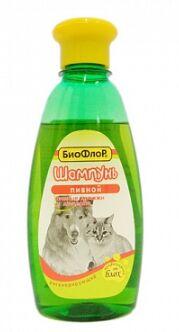 Шампунь Биофлор Пивной регенерирующий для собак и кошек 245мл