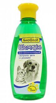 Шампунь Биофлор Ранозаживляющий от блох для собак и кошек Ромашка 245мл