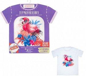 Термонаклейка для текстиля Фламинго 14*14см