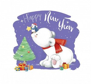 Термотрансфер для текстиля Happy new year 15*15см