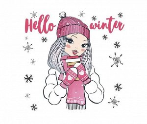 Термонаклейка для текстиля Hello winter 15*15см