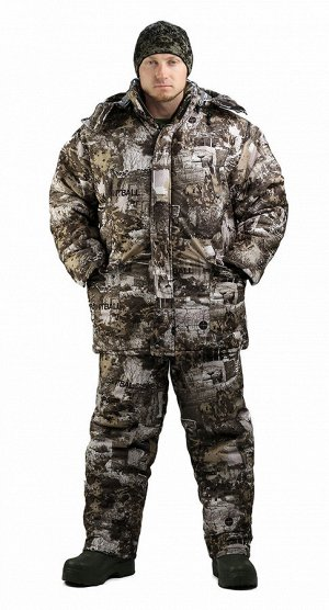 "Костюм мужской ""Тайга"" зимний, куртка/полукомб.,подклад термофольга, тк.мембрана, цв.кмф Paintball"