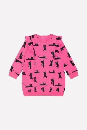 Платье(Осень-Зима)+girls  (ярко-розовый, мультгерой к213)